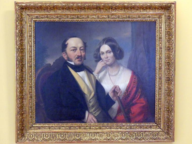 Jan Ksawery Kaniewski: Porträt des Ehepaares Mniewski, 1849
