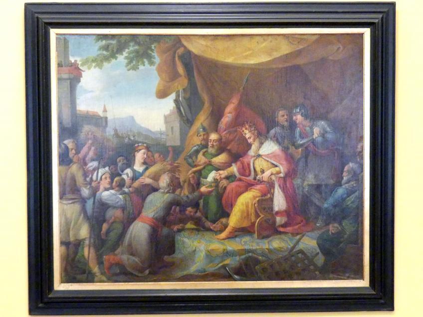 Rafał Hadziewicz: Kasimir der Große gewährt den Bauern Privilegien, 1834