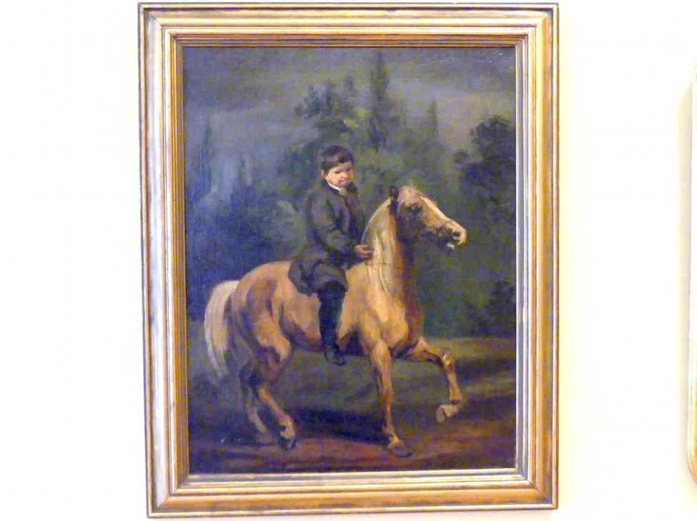 Piotr Michałowski: Knabe zu Pferde, um 1840