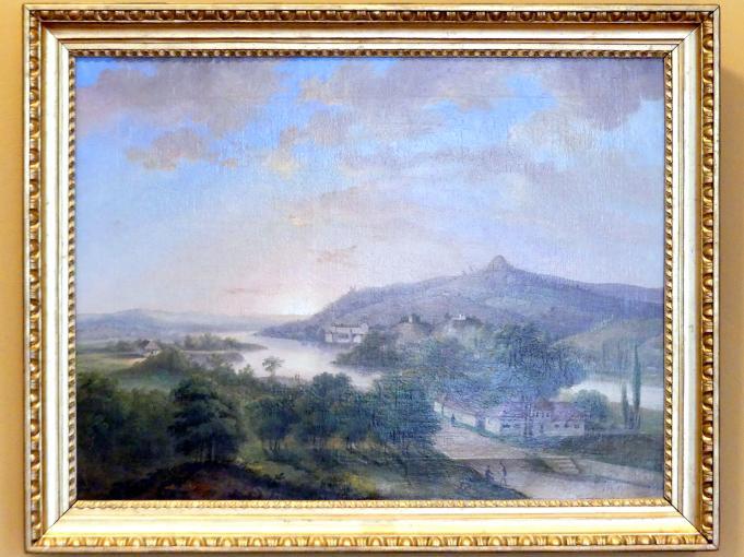 Antoni Lange: Blick auf Weichsel und Sankt-Bronisława-Anhöhe bei Krakau, 1839