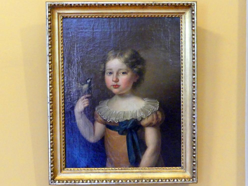 Karl Gottlieb Schweikart: Porträt eines Mädchens mit Vogel, 1820