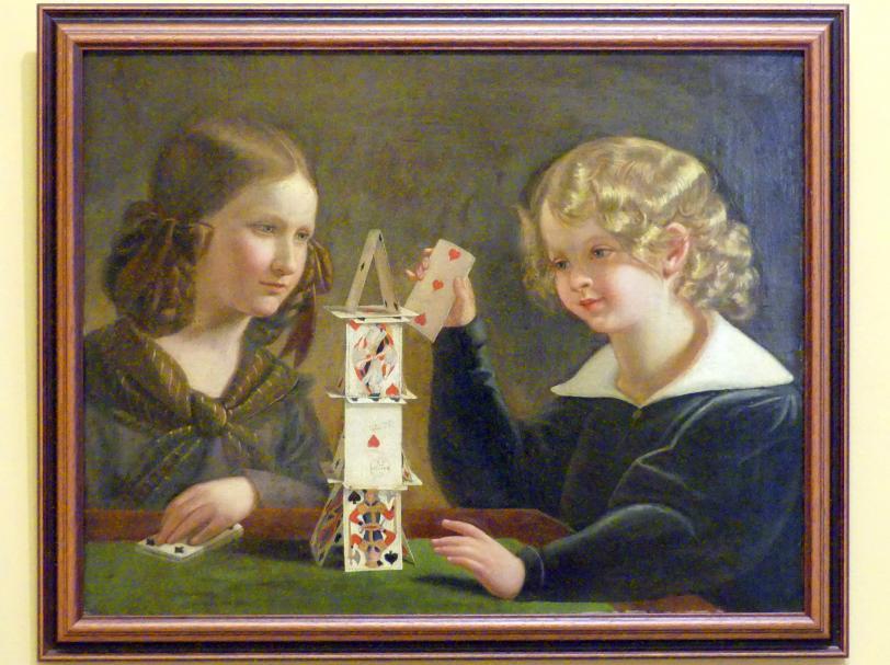 Jan Maszkowski: Des Künstlers Kinder Fryderyka und Rafał, 1844