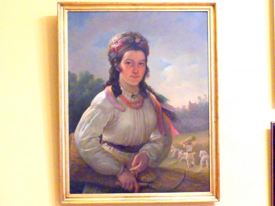 Karl Gottlieb Schweikart: Porträt der Zuzanna Ozarowska in Tracht, 1842