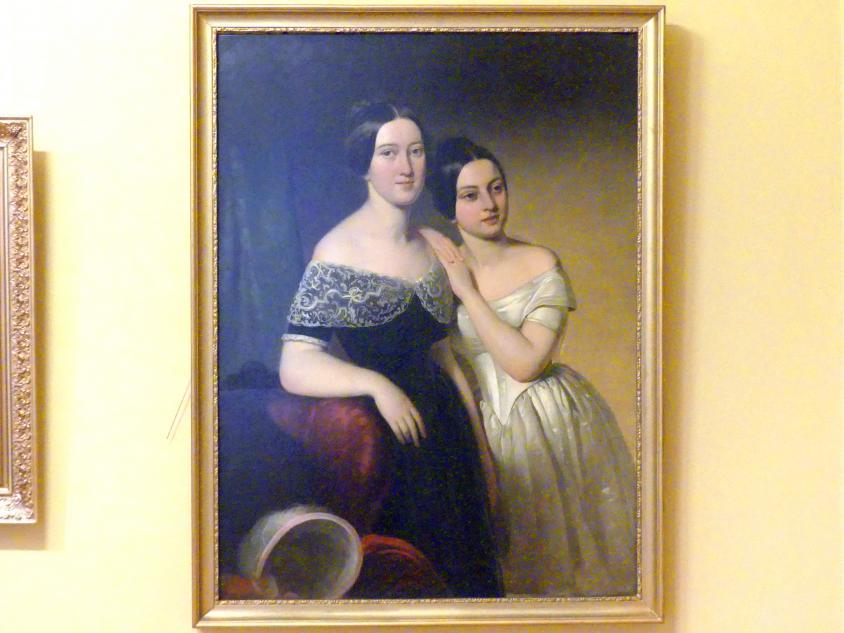 Alojzy Reichan: Porträt der Geschwister Aleksandra und Melanie Strzyżewski, 1846