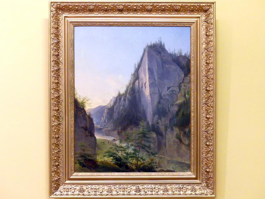 Jan Nepomucen Głowacki: Eingang des Kościeliska-Tals in der Tatra, 1840