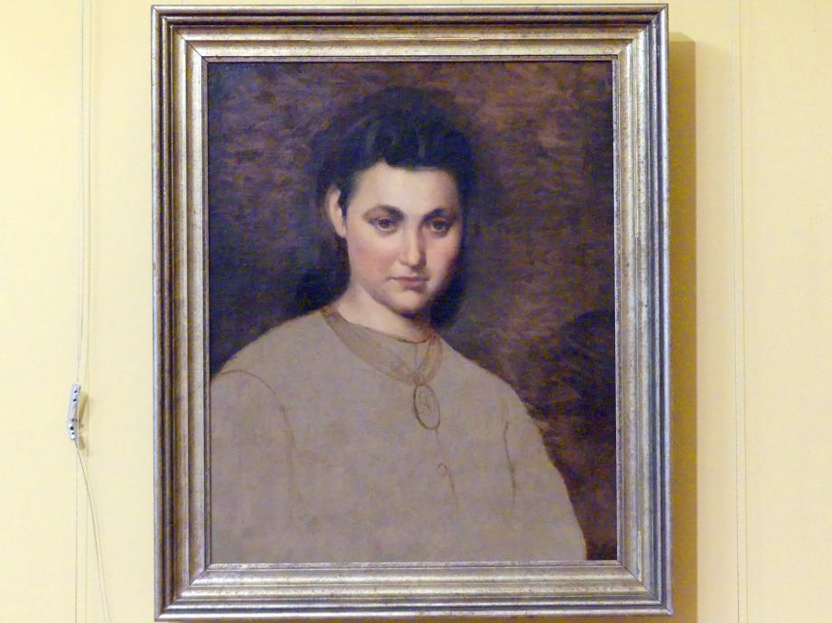 Artur Grottger: Porträt eines Mädchens mit Medaillon, 1865