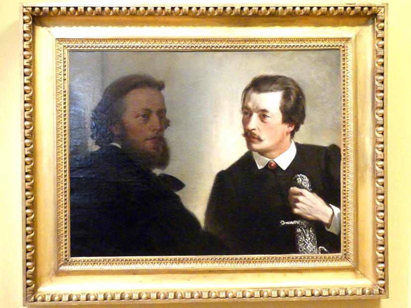 Artur Grottger: Porträt von Władysław (Dichters und Komponist) und Stanisław (Landschaftsmaler) Tarnowski, 1866
