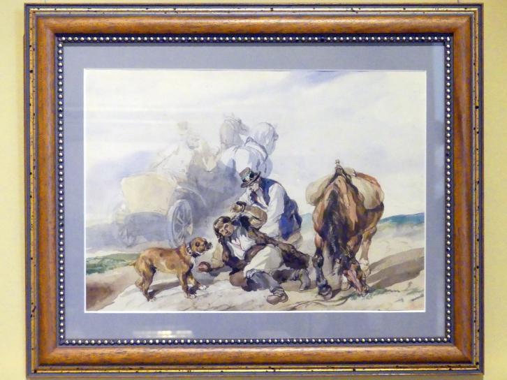 Piotr Michałowski: Unfall auf der Straße, 1855