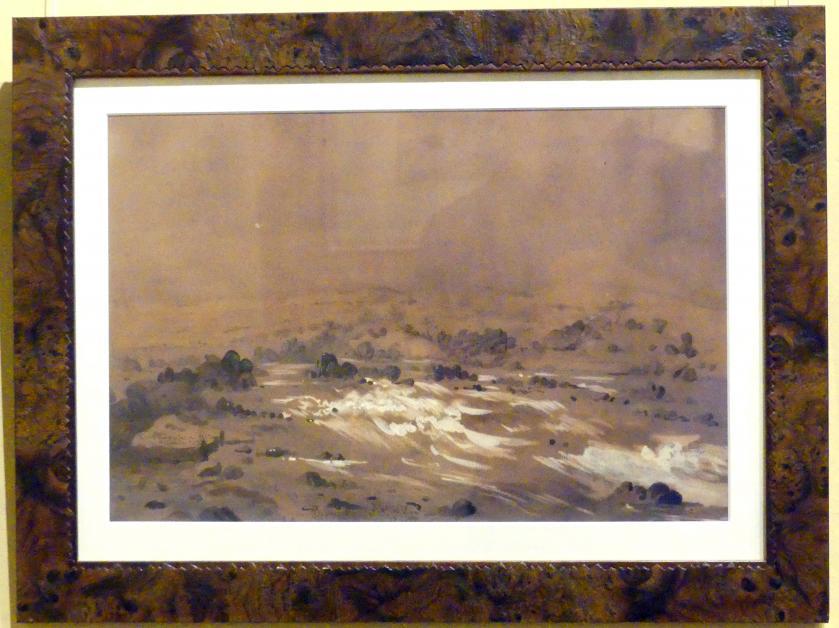 Franciszek Tepa: Erster Katarakt im Nil, 1853