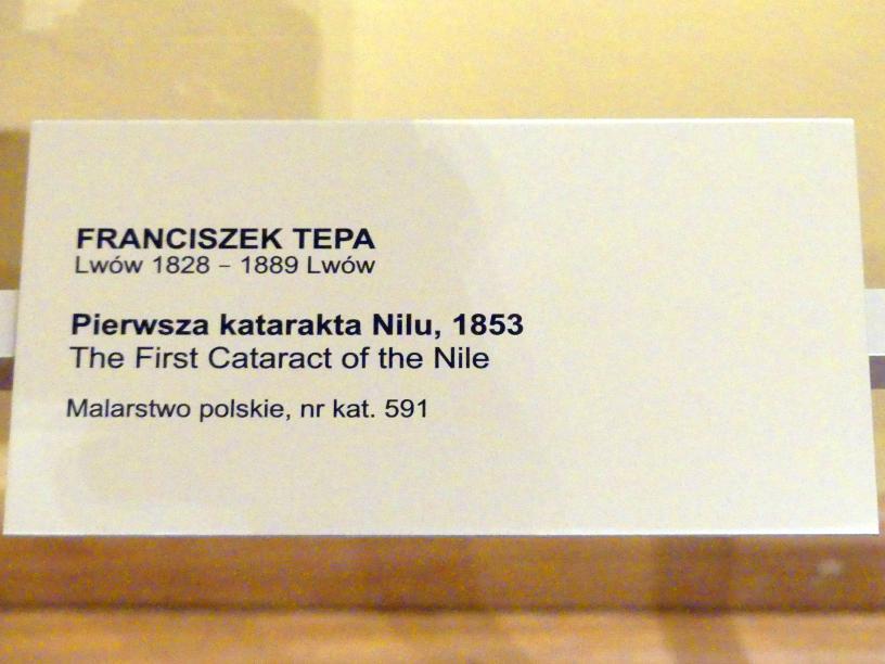 Franciszek Tepa: Erster Katarakt im Nil, 1853, Bild 2/2