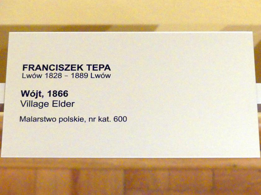 Franciszek Tepa: Dorfältester, 1866, Bild 2/2