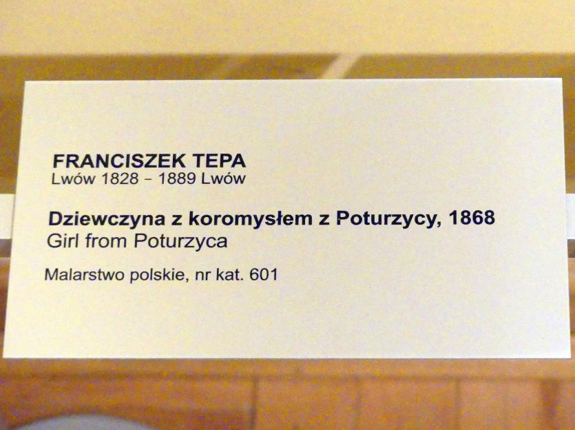 Franciszek Tepa: Mädchen aus Potorytsya, 1868, Bild 2/2