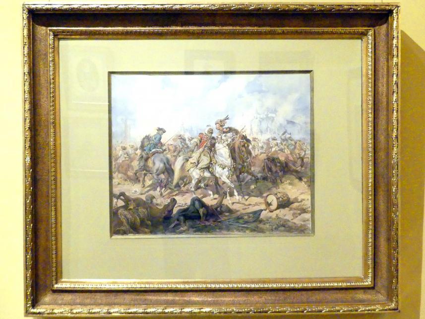 Juliusz Kossak: Stanisław Pasek in der Schlacht bei Párkány, 1883
