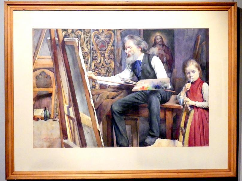 Aleksander Augustynowicz: Seweryn Obst an der Staffelei, 1906