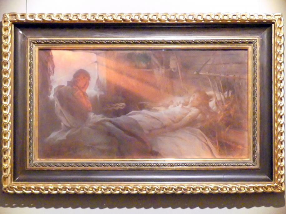 Witold Pruszkowski: Szene aus Juliusz Słowacki's Gedicht 'Anhelli': Tod von Ellenai, 1892, Bild 1/3