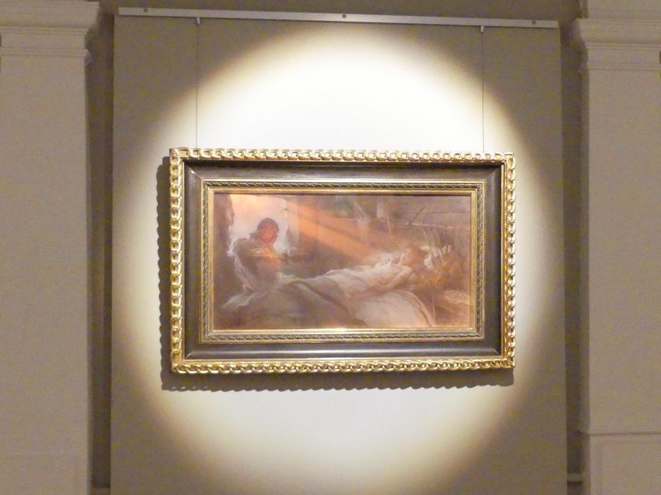 Witold Pruszkowski: Szene aus Juliusz Słowacki's Gedicht 'Anhelli': Tod von Ellenai, 1892, Bild 2/3
