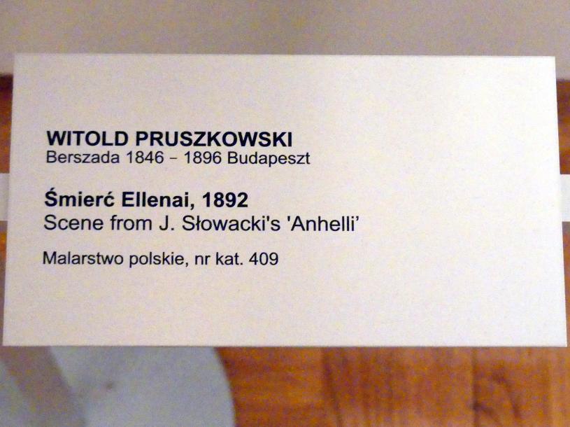 Witold Pruszkowski: Szene aus Juliusz Słowacki's Gedicht 'Anhelli': Tod von Ellenai, 1892, Bild 3/3