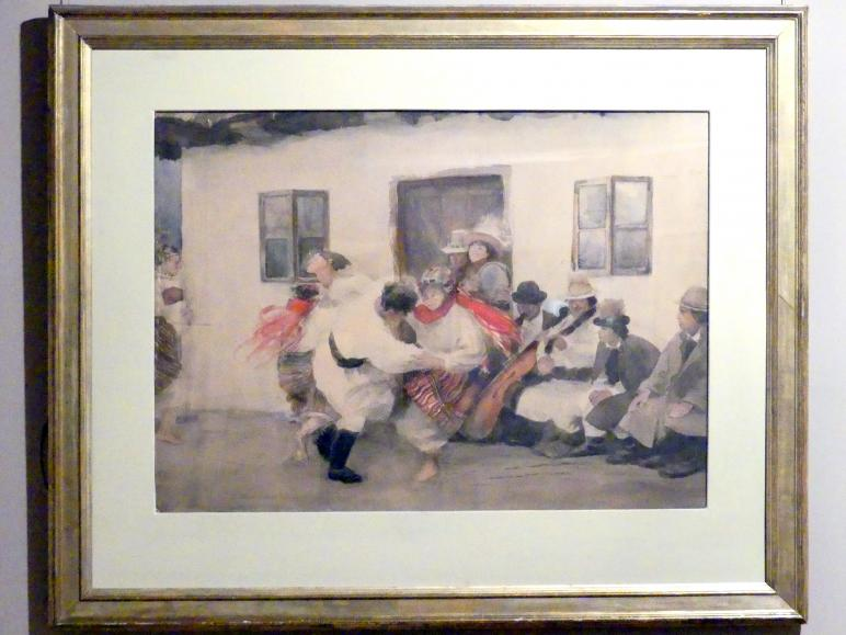 Teodor Axentowicz: Kolomyjka - Volkstanz der Hutsul, Nach 1895