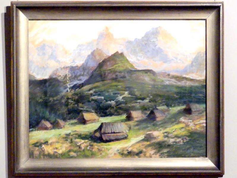Leon Wyczółkowski: Die Alm Hala Gąsienicowa in der Hohen Tatra, um 1910
