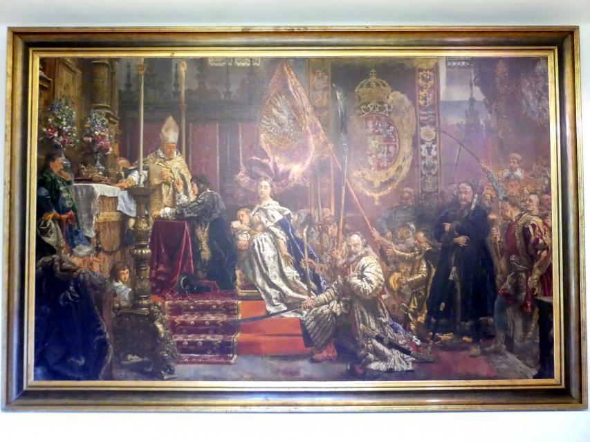 Jan Matejko: Gelübde des Königs Johann II. Kasimir (1609-1672), 1893