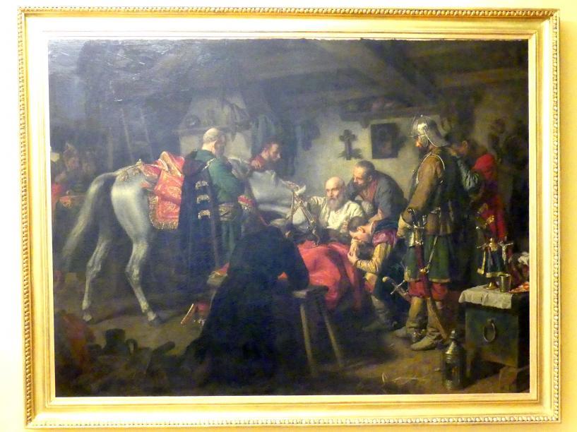Leopold Löffler: Tod des Adeligen und Feldherrn Stefan Czarniecki (1599-1665), 1860