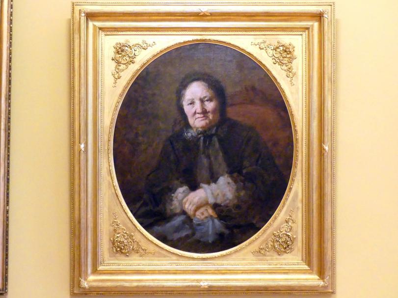 Wilhelm Leopolski: Porträt der Karolina Hoffmann, 1870