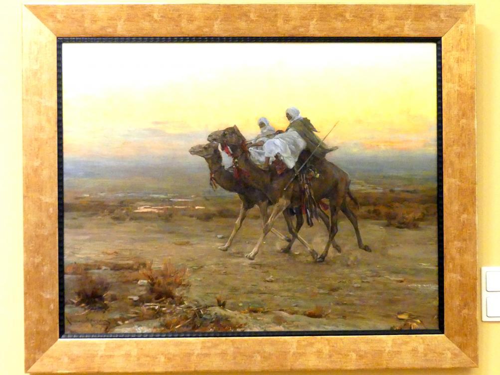 Alfred von Wierusz-Kowalski: Reiter mit Kriegsbefehl in Marokko, nach 1903