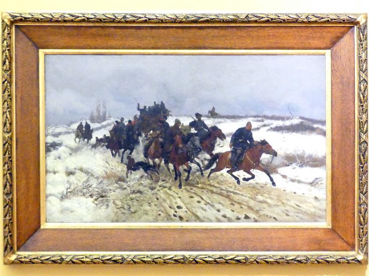 Józef Chełmoński: Aufbruch der Jäger, 1882