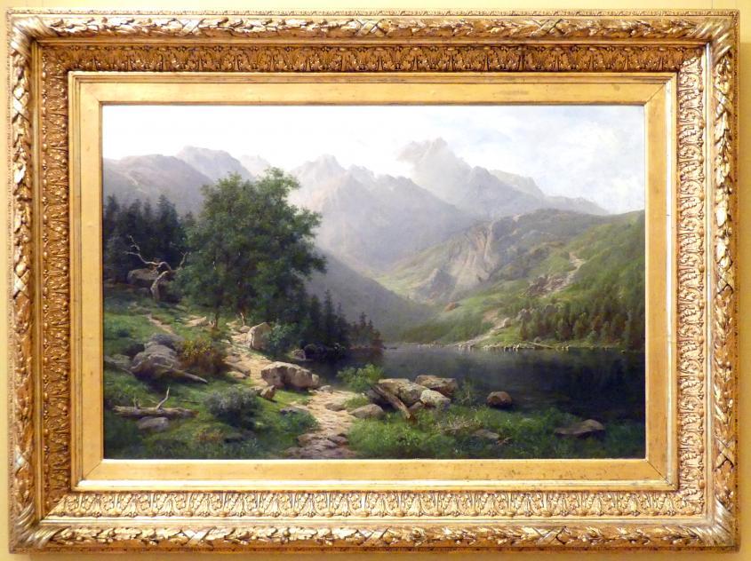 Wojciech Gerson: Landschaft beim Bergsee Meerauge in der Hohen Tatra, Um 1888