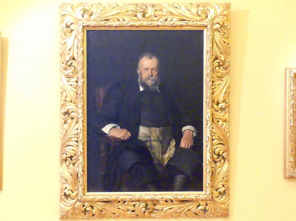 Kasimir Pochwalski: Porträt des Naturwissenschaftlers und Politikers Włodzimierz Dzieduszycki (1825-1899), 1891 - 1892