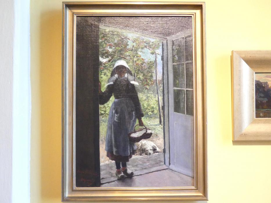 Anna Bilińska: Bretonisches Mädchen auf der Türschwelle, 1889