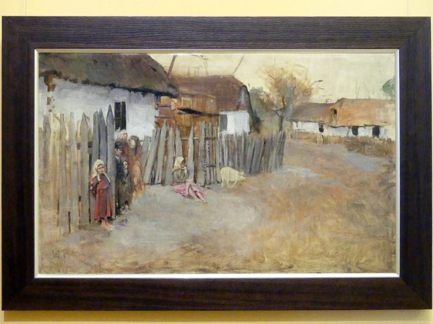 Władysław Podkowiński: Dorf, 1890