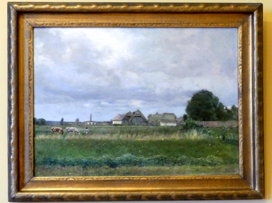Stanisław Dębicki: Landschaft im Gebiet der Stadt Stryj, 1893