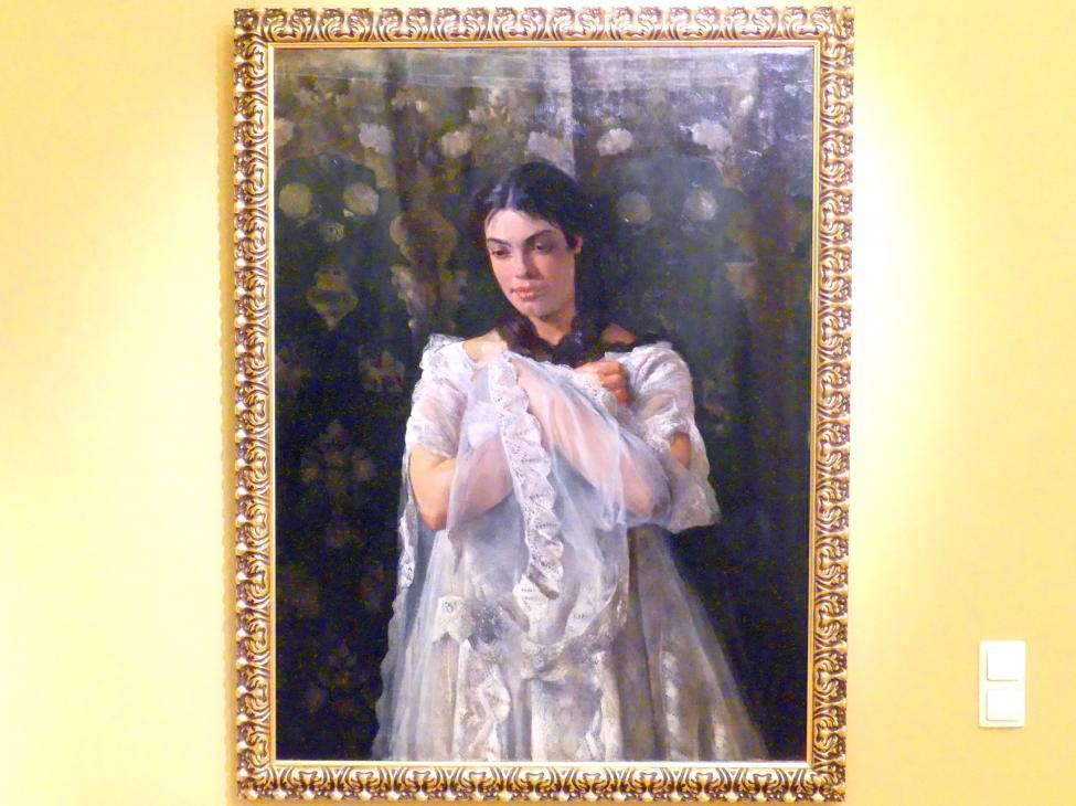 Jacek Malczewski: Porträt der Schauspielerin Helena Marcello (1860-1939), um 1876