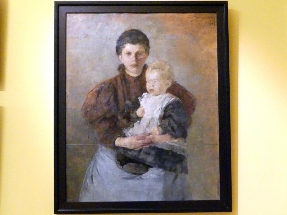 Olga Boznańska: Das Kindermädchen, 1899
