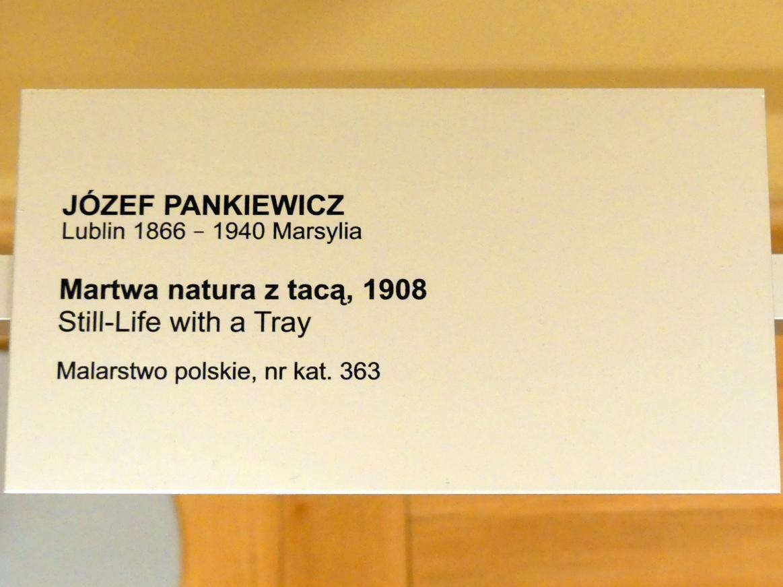 Józef Pankiewicz: Stillleben mit Tablett, 1908, Bild 2/2