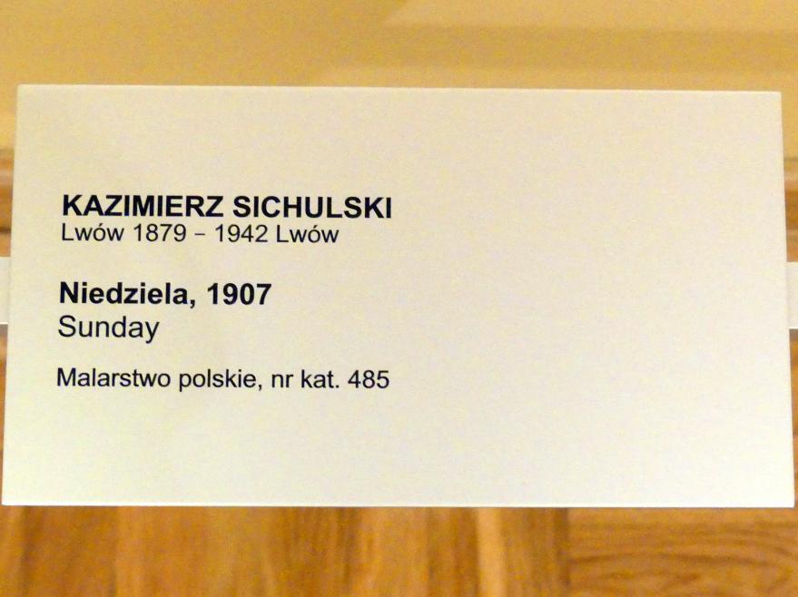 Kazimierz Sichulski: Sonntag, 1907, Bild 2/2