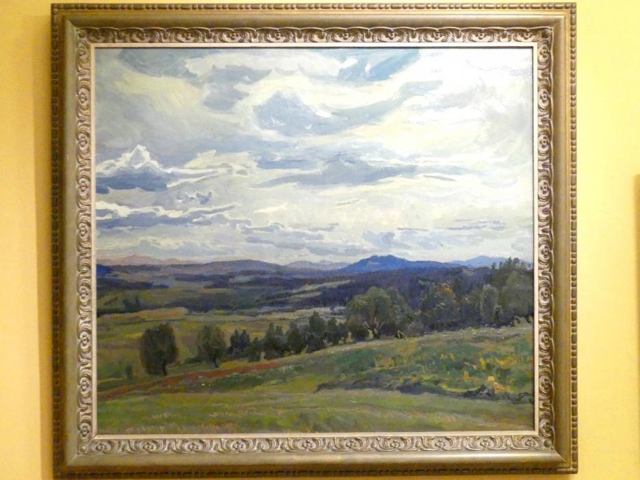 Stanisław Kamocki: Landschaft bei Kalwaryjska Góra, 1908