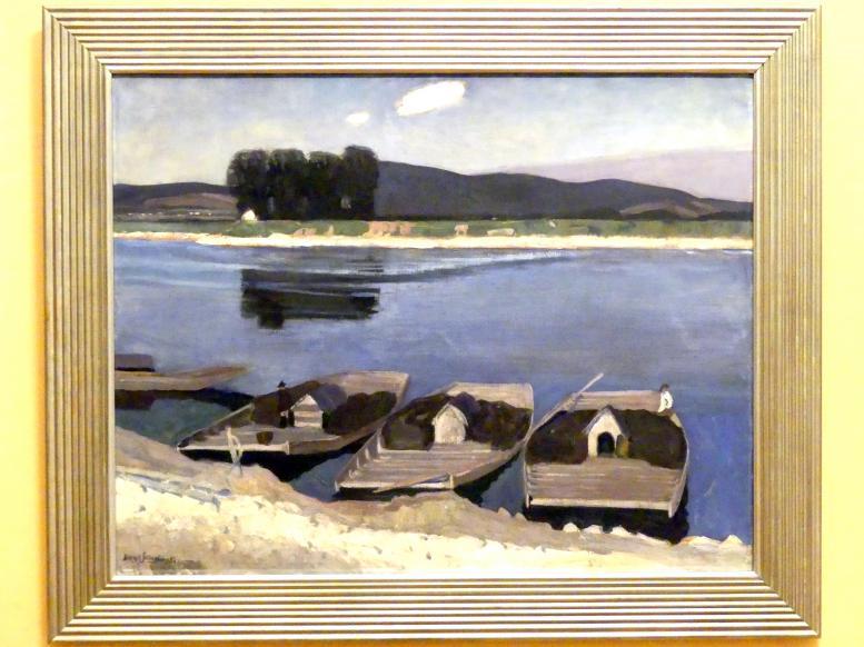 Henryk Szczyglinski: Flachboote auf der Weichsel bei Tyniec, um 1904