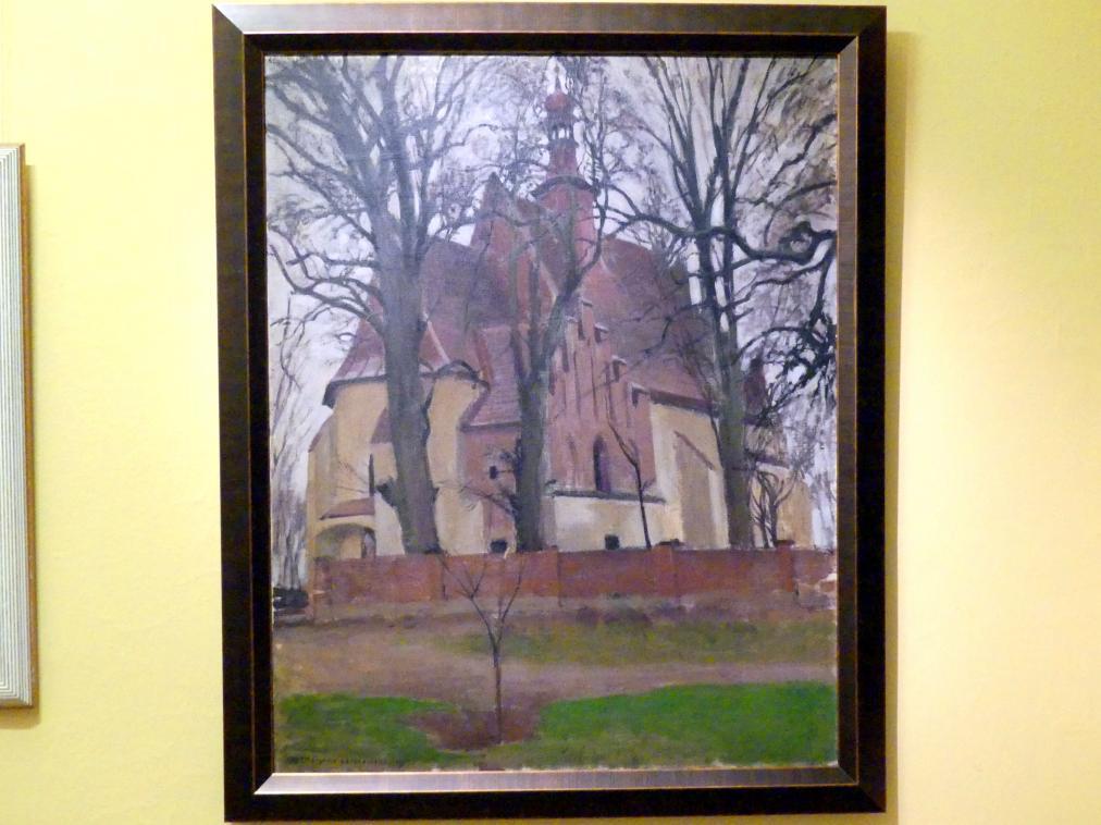 Stanisław Czajkowski: Landschaft mit Kirche, 1907