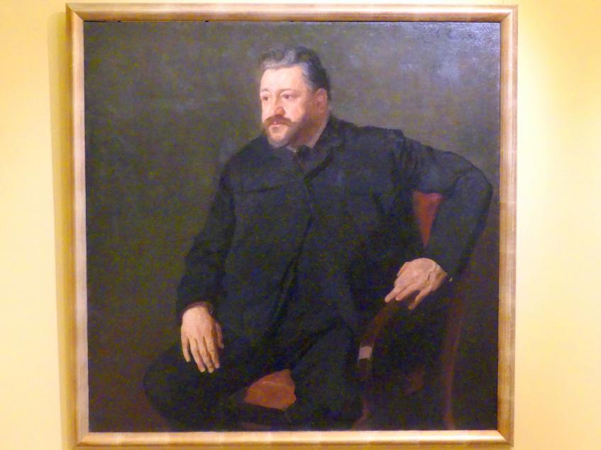 Stanisław Lentz: Porträt des Schritstellers Wincenty Kosiakiewicz (1863-1918), 1905