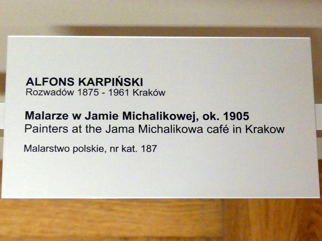 Alfons Karpiński: Maler im Cafe Jama Michalika in Krakau, Um 1905