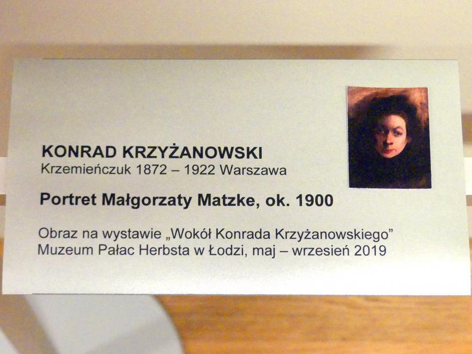 Konrad Krzyżanowski: Porträt der Malgorzata Matzke, Um 1900