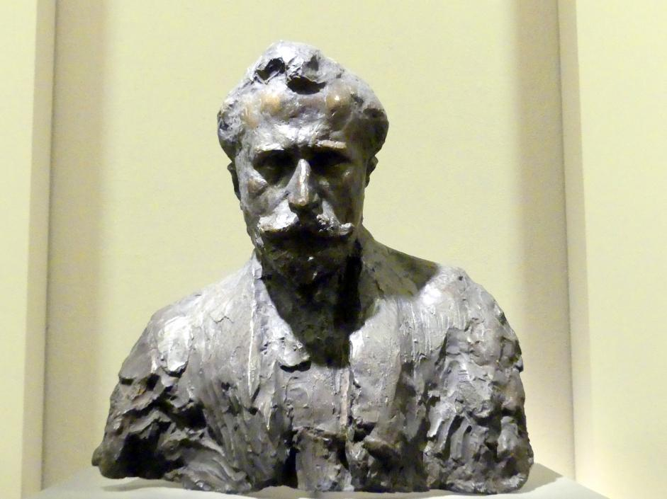 Jan Szczepkowski: Büste des Dichters Edward Leszczynski (1880-1921), 1911