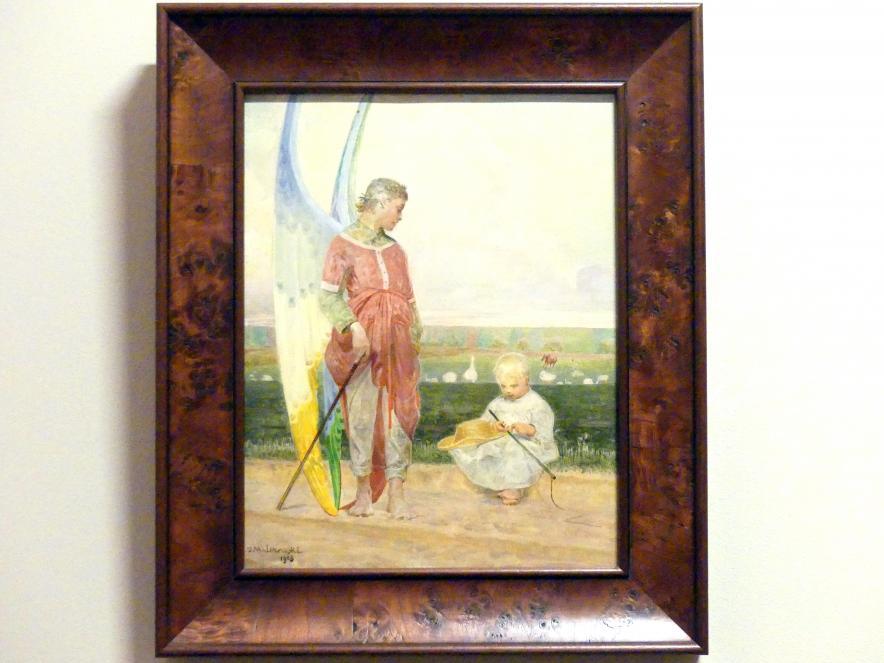 Jacek Malczewski: Engel und Hirtenjunge, 1903