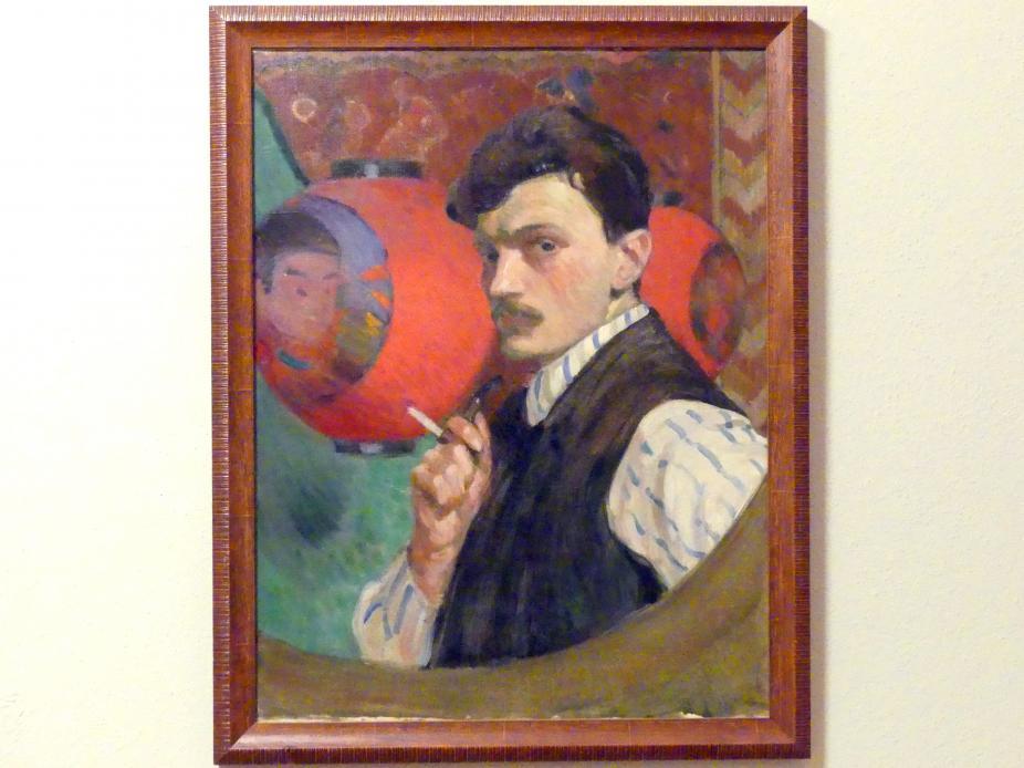Włodzimierz Błocki: Selbstporträt mit Pfeife, Um 1915