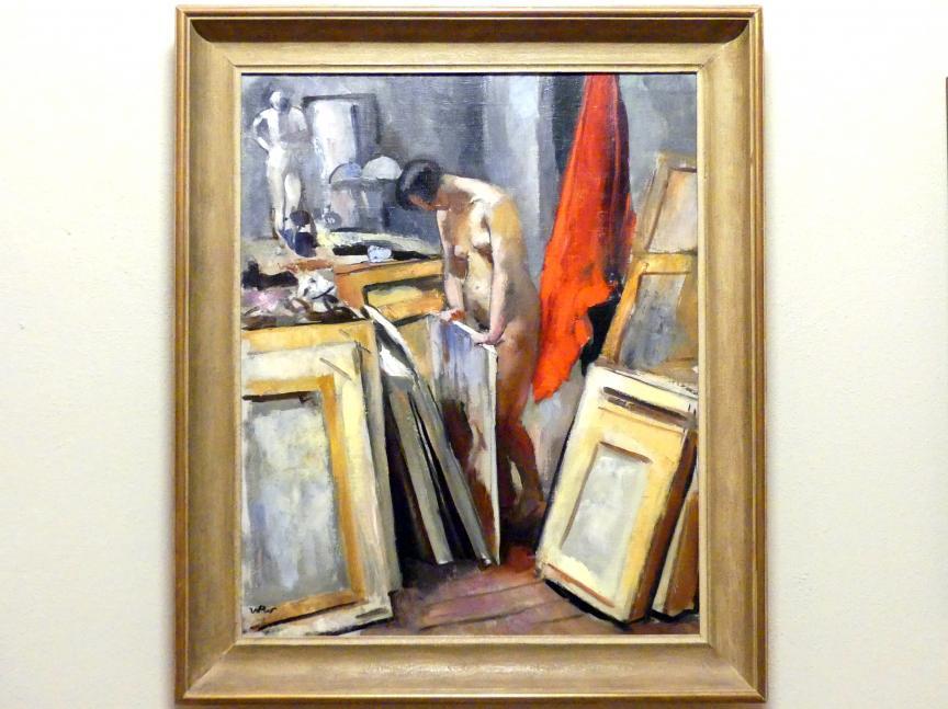 Wojciech Weiss: Modell im Studio des Künstlers, 1923