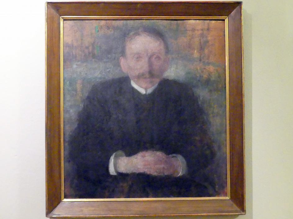Olga Boznańska: Porträt des Schriftstellers Józef Korzeniowski (1857-1924), Nach 1909