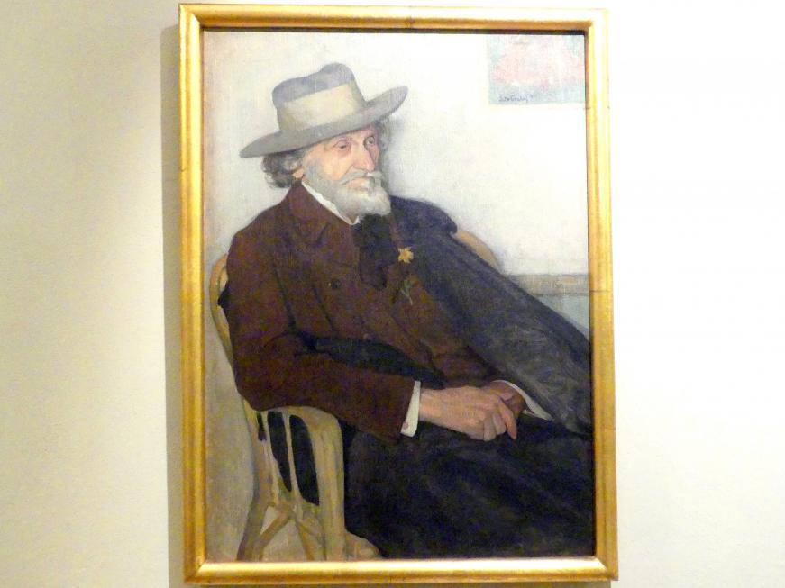 Włodzimierz Błocki: Porträt des Malers Seweryn Obst (1847-1917), 1911