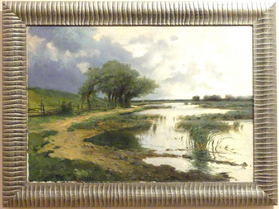 Marceli Harasimowicz: Landschaft mit Hochwasser, 1927